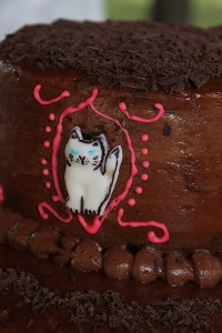 kitty cake closeup