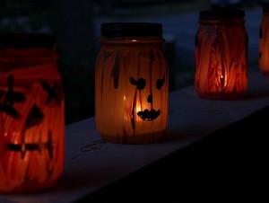 lit jar jack-o-lanterns
