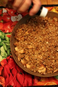 apple crisp photo outtakes