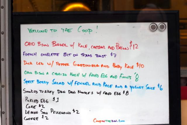 coop menu october 13