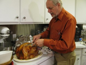 tom carving tom turkey