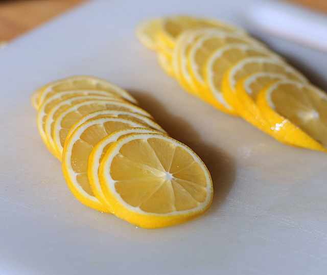 sliced meyer lemons