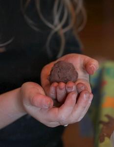 rolling chocolate truffles