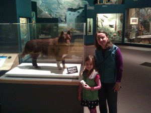 Lil, Rachel and balto at cleveland natural history museum