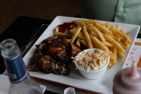 barbeque chicken at Paradis Restaurant