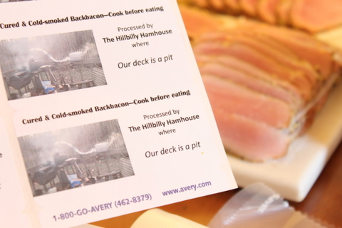 hillbilly ham house labels