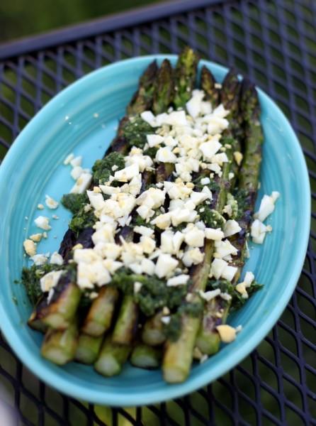 asparagus chimichurri boiled eggs