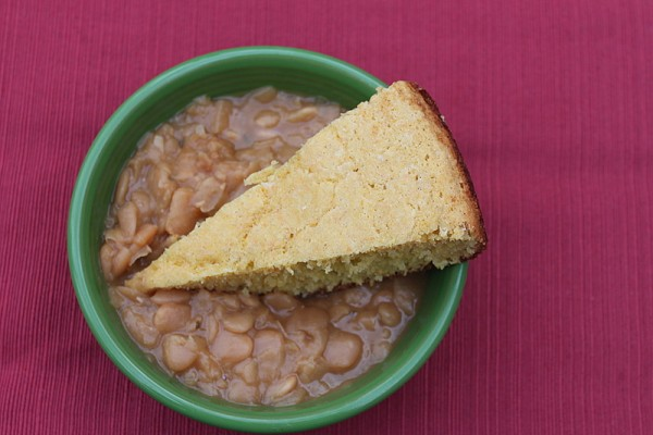 cornbread and butterbeans