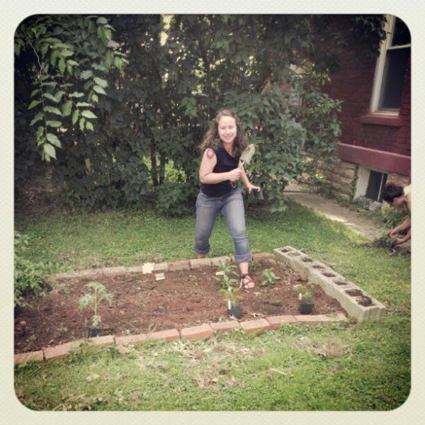 rachel gardening