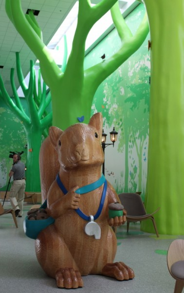 squirrel at Nationwide Children's hospital