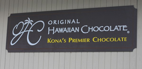 original hawaiian chocolate sign