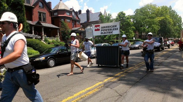 aep ohio parody float