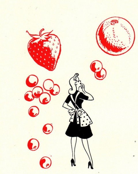 1945 housewife canning illustration