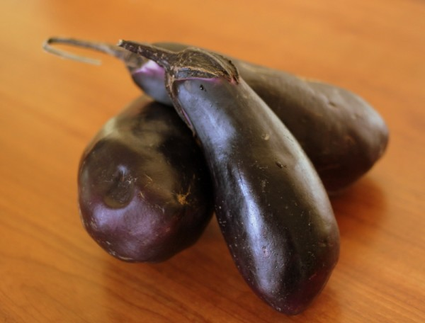 fresh local raw eggplant