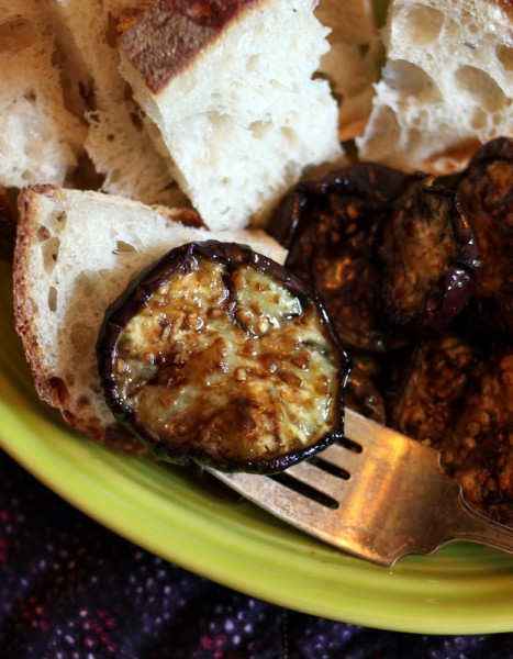 marinated roasted eggplant recipe