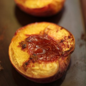 roasted peach boat
