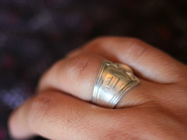 family silver spoon ring