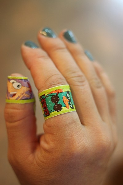 hand with bandaids