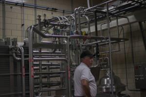 milk tubes cheese plant