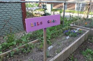 child's garden sign