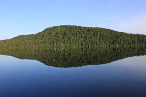 lake biggar canada mirror reflection