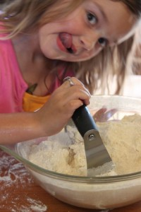 child using pastry cutter