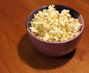 homemade popcorn in bowl