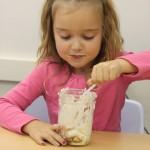 child eating jeni's ice cream