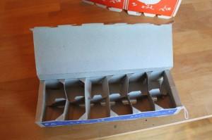 vintage cardboard egg carton