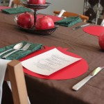 pomegranate table setting