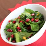 tatsoi pomegranate salad