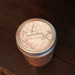 using a map to cover jar lid