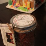 use a map to make gift label
