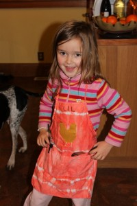 hand decorated child's apron
