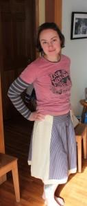 handmade skirt from men's shirts