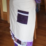 handmade lower half apron
