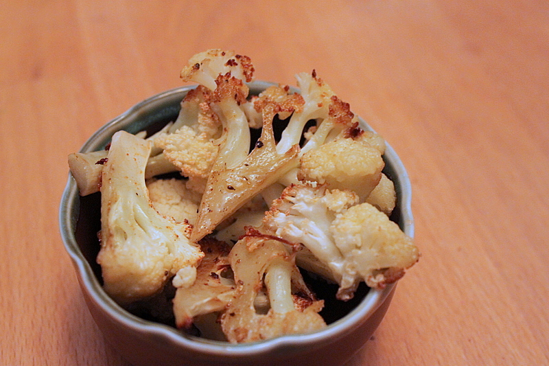 roasted popcorn cauliflower