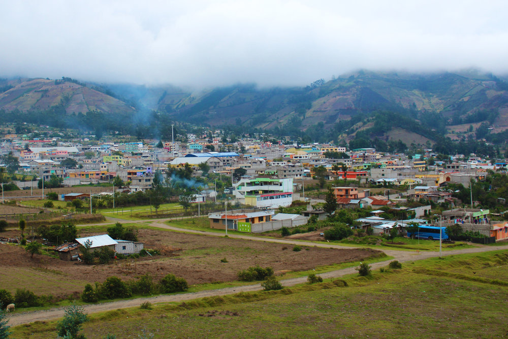 The city of Sigchos as seen from the main road leading out of town toward Chugchilan.