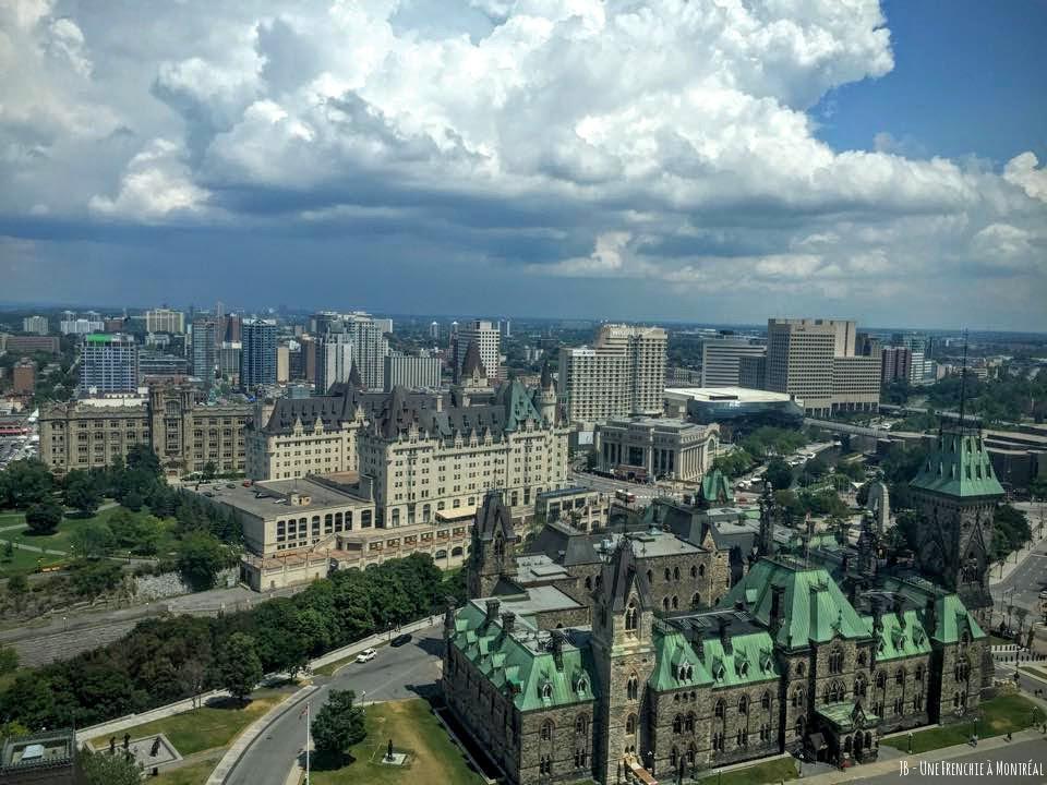 Vue sur le Parlement et la ville