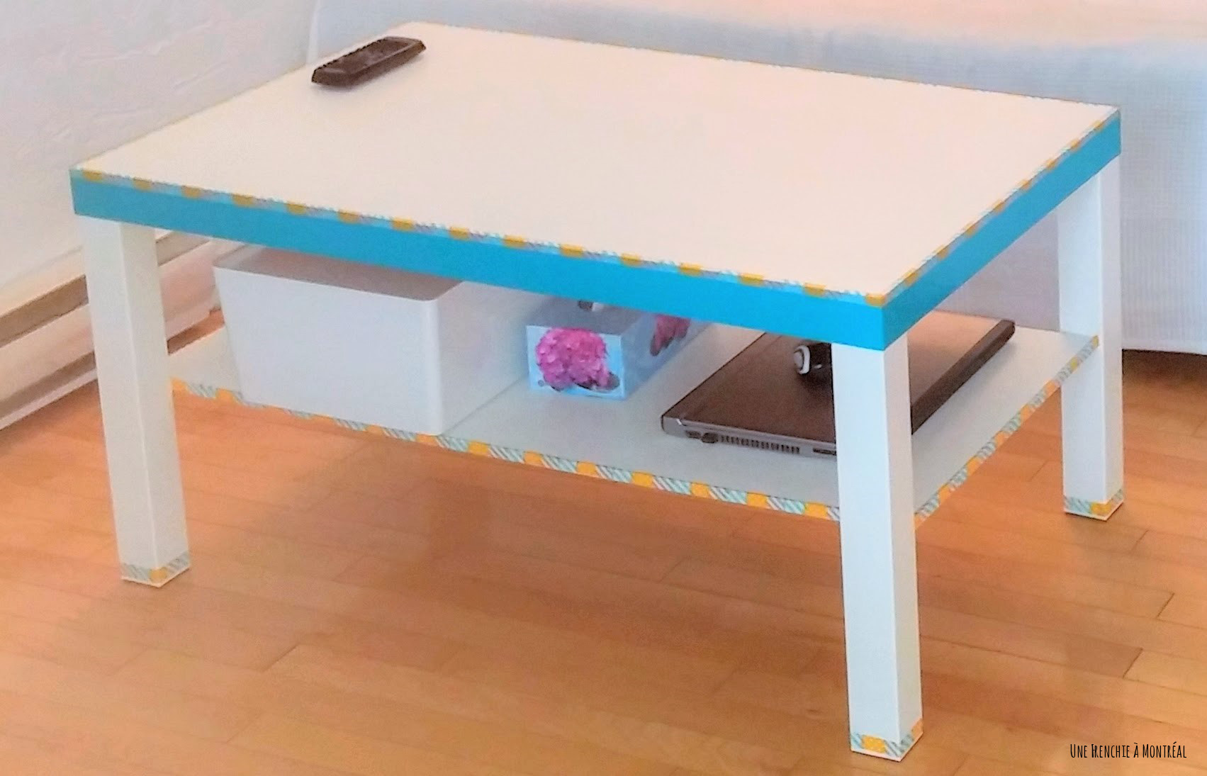 table basse lack customisée