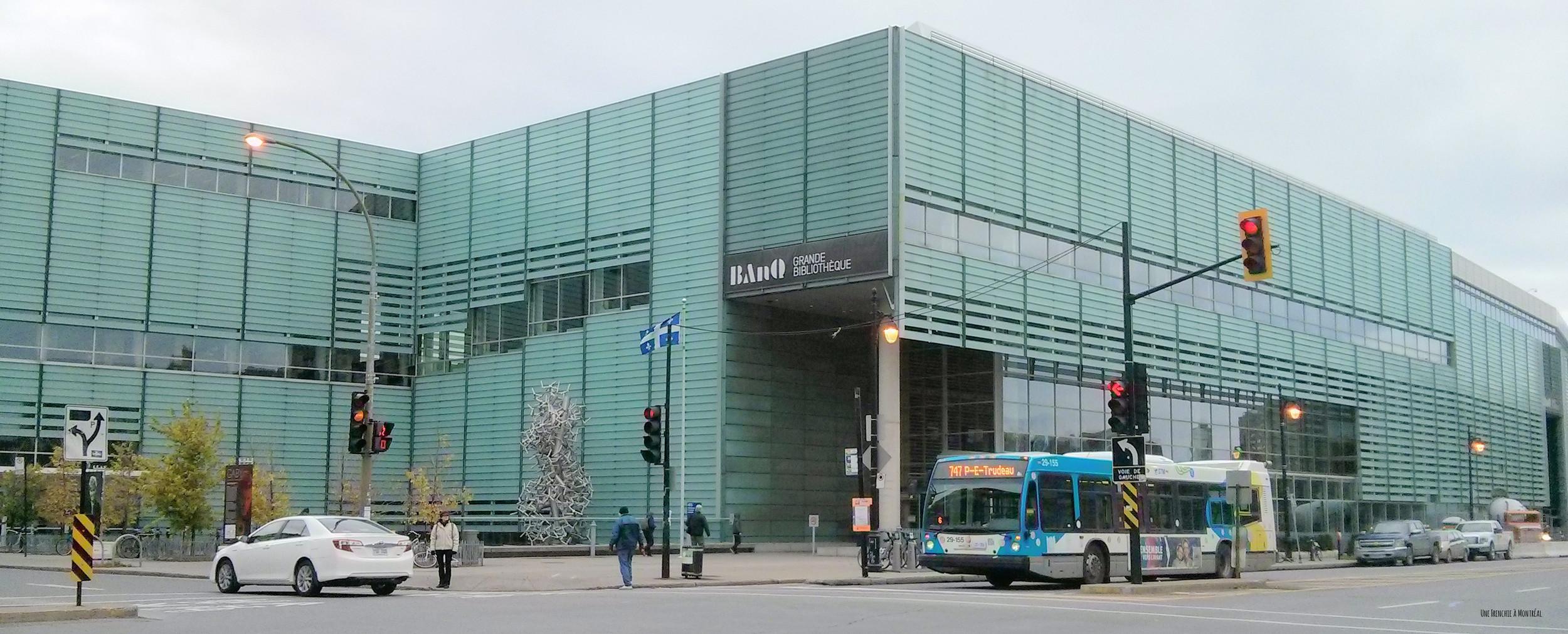 Grande bibliothèque à Montréal