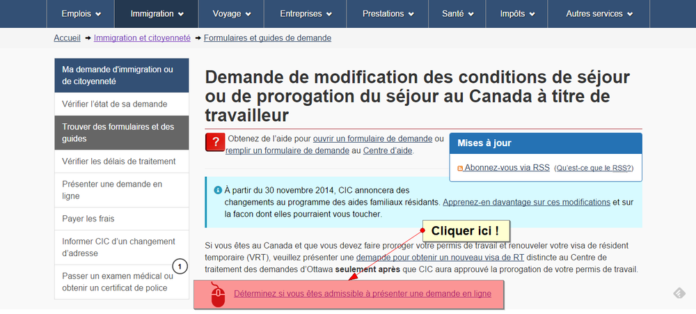 'Demande de modification des conditions de séjour ou de prorogation du séjour au Canada à titre de travailleur' - www_cic_gc_ca_francais_information_demandes_sej