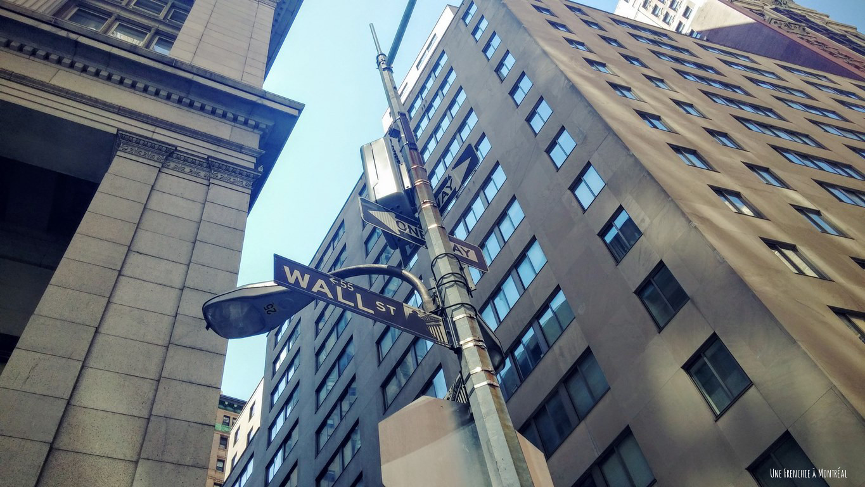 Panneau Wall Street
