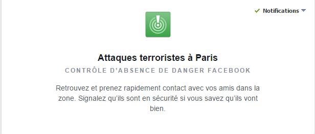 Contrôle d'absence de danger pour Attaques terroristes à Paris