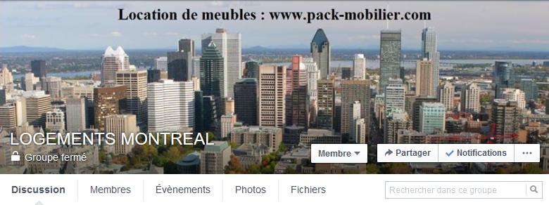 groupe facebook logement montréal