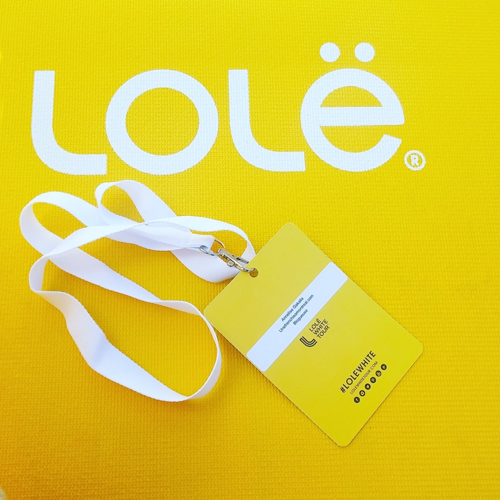 Lolë White Tour 2016 - badge