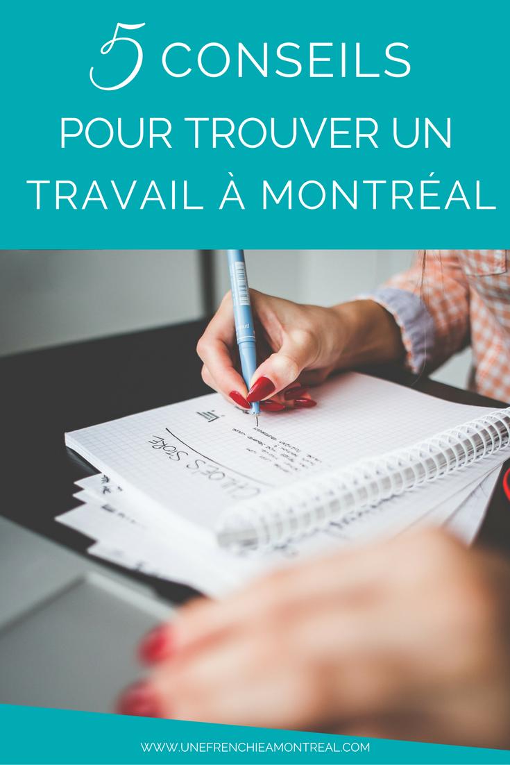 5 conseils pour trouver un travail à Montréal