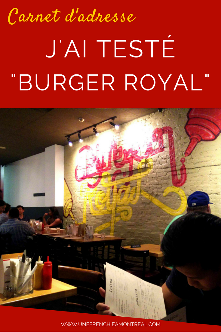 Restaurant Burger Royal Montréal