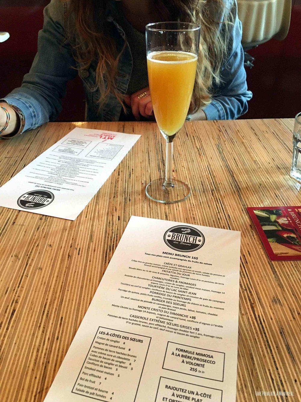 Mimosa + menu BBLSG
