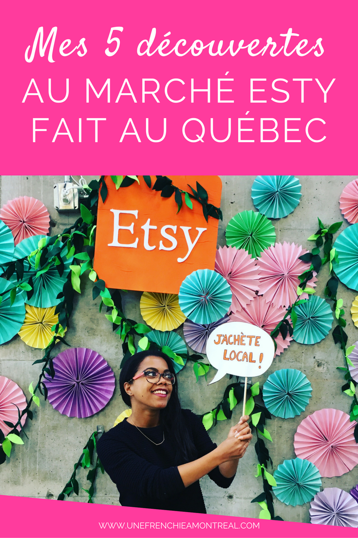 Ce week-end du 24-25 septembre 2016, s'est tenu une nouvelle édition du Marché Esty, fait au Québec. Alors, pour l'occasion je me suis donnée un défi.  Oui, j'aime me challenger toute seule.  C'est avec la ferme volonté de te proposer uniquement mes découvertes du salon, que je suis entrée au Marché. Je te propose donc une sélection de mes 5 créateurs découverts pour lesquels j'ai craqué. #etsy #etsymtl #montreal #createurs